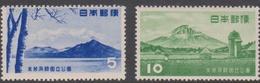 Japan SG704-705 1953 Shikotau-Toya National Park, Mint Hinged - 1926-89 Keizer Hirohito (Showa-tijdperk)