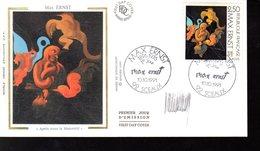 """ FRANCE - ALLEMAGNE : MAX ERNST "" SIGNE Sur Enveloppe 1er Jour De 1991 (par H. SAINSON) N° YT 2727 - Emissions Communes"