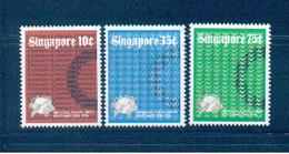 Singapore 1974 Scott 212-4 UPU MNH** - Singapour (1959-...)