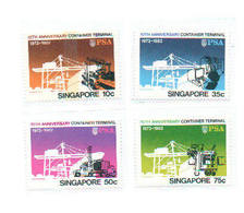 Singapore 1982 Scott 400-3 Container Terminal MNH** - Singapour (1959-...)
