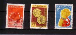 443a * RUMÄNIEN * 3 DIVERSE LANDWIRTSCHAFT * GESTEMPELT **!! - 1948-.... Republiken