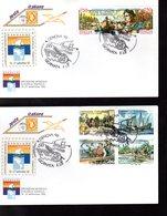 """"""" CHRISTOPHE COLOMB """" Sur 2 Enveloppes 1er Jour De 1992 D'Italie. Parfait état. FDC - Christopher Columbus"""
