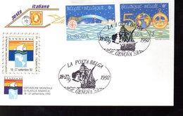 """"""" CHRISTOPHE COLOMB """" Sur Enveloppe 1er Jour De 1992 De Belgique. Parfait état. FDC - Christopher Columbus"""