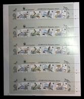 North Korea 2009 Mih. 5495/98 Fauna. WWF. Birds. Blackfaced Spoonbill (M/S Of 5 Booklet Sheets) MNH ** - Corée Du Nord