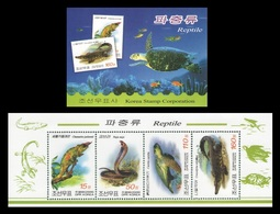North Korea 2009 Mih. 5507/10 Fauna. Reptiles (booklet) MNH ** - Corée Du Nord