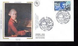 """"""" MOZART """" Sur Enveloppe 1er Jour De 1991 D'ANDORRE Parfait état. FDC - Musique"""