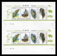 North Korea 2009 Mih. 5507/10 Fauna. Reptiles (M/S Of 2 Booklet Sheets) MNH ** - Corée Du Nord