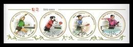 North Korea 2010 Mih. 5585/88 Table Tennis. Football. Hockey. Handball. Volleyball. Wrestling (booklet Sheet) MNH ** - Corée Du Nord