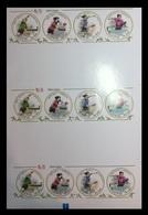 North Korea 2010 Mih. 5585/88 Table Tennis. Football. Hockey. Handball. Volleyball (M/S Of 3 Booklet Sheets) MNH ** - Corée Du Nord