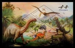 North Korea 2010 Mih. 5602/04 (Bl.770) Prehistoric Fauna. Dinosaurs MNH ** - Corée Du Nord