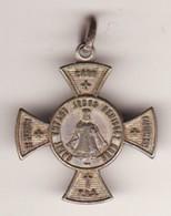 Ancienne Médaille Religieuse Vierge Croix De Malte 3 PHOTOS Haut 23 (METAL ARGENTé TTB) - Pendentifs