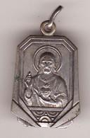 """Ancienne Médaille Religieuse """"en Cas D'accident Demander 1 Pretre"""" 3 PHOTOS Haut 25 (ARGENT ? TTB) - Pendentifs"""