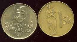 SLOVAQUIE  1koruna 1993 - Eslovaquia