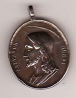 Médaille Religieuse Ancienne Christ ET  Vierge SALVATOR MUNDI Métal 3 PHOTOS Haut 35 - Pendentifs