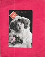 CPA COLORISEE FETE - BONNE ANNEE - Portrait D'une Belle  Petite Fille à La Rose - DELC6/ENCH - - Nouvel An