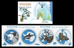 North Korea 2013 Mih. 6007/08 Fauna. Arctic And Antarctic Animals. Penguin. Reindeer (booklet) MNH ** - Corée Du Nord
