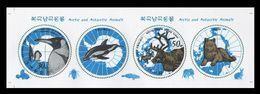 North Korea 2013 Mih. 6007/08 Fauna. Arctic And Antarctic Animals. Penguin. Reindeer (booklet Sheet) MNH ** - Corée Du Nord