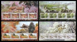 North Korea 2013 Mih. 6029/32 Four Seasons (4 M/S) MNH ** - Corée Du Nord