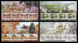 North Korea 2013 Mih. 6029/32 Four Seasons (4 M/S) MNH ** - Korea (Nord-)