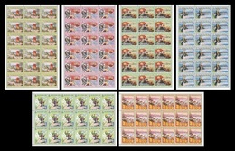 North Korea 2014 Mih. 6067/72 New Year Address. Football. Basketball. Music. Medicine. Locomotive (sheets) MNH ** - Corée Du Nord