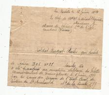 ATTESTATION Transfert De Corps Au Cimetière Des Islettes , Arrondt. Verdun ,1924,militaria , à Mairie D'Avriers ,Vienne - Vecchi Documenti