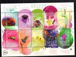 NETHERLANDS, 2018, MNH, INSECTS, BUTTERFLIES, BEETLES, ANTS, SPIDERS,   SHEETLET - Butterflies