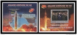 North Korea 2017 Mih. 6414/15 (Bl.953/54) Intercontinental Ballistic Missile Hwasong-14. Kim Jong Un (II) MNH ** - Corée Du Nord