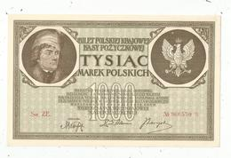 Billet, Pologne , 1000 ,tysiac MAREK Polskich ,  1919 , SUP, Frais Fr 1.65 E - Pologne