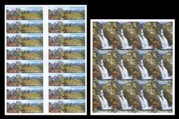 North Korea 2017 Mih. 6433B/34B Autumn Landscapes. Chilbo Mountain And Ullim Falls (sheets) (imperf) MNH ** - Corée Du Nord