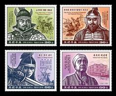 North Korea 2018 Mih. 6514/17 Famous Korean Warriors MNH ** - Corée Du Nord