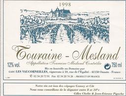 TOURAINE-MESLAND LES VAUCORNEILLES 1998 (8) - Bordeaux