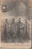 Rare Photo-carte 4 Soldats Du 103 Avec Brassard Infirmier - 1914-18