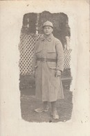Rare Photo-carte Soldat Du 152 Avec Casque Adrian De Chasseur - 1914-18