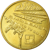 Monnaie, Pologne, Smolensk Plane Crash, 2 Zlote, 2011, Warsaw, TTB, Laiton - Pologne