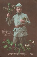 Rare Cpa Fantaisie Guerre 14-18  Bonne Année - 1914-18