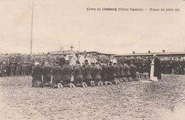 Rare Cpa Le Camp De Prisonnier De Limburg La Messe En Plein Air - 1914-18