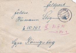 German Feldpost WW2: To Luftwaffen-Jager-Regiment 17 FP L50292 LGPA Königsberg P/m Pilsting 1 22.3.1943 - Cover Only - Militaria
