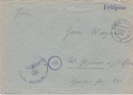 German Feldpost WW2: AEA 9 P/m Sondershausen 9.10.1944 - Cover Only (DD24-45) - Militaria