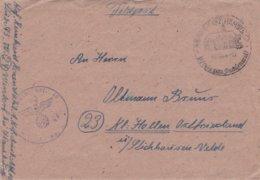 German Feldpost WW2: 1. Kraftfahr Ausbildungs Abteilung 10 P/m Wentorf Bz.Hamburg 8.12.1944 - Letter Inside (DD24-45) - Militaria