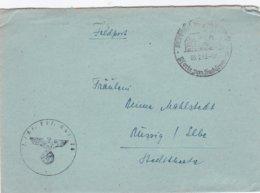 German Feldpost WW2: 1. Kraftfahr Ausbildungs Abteilung 10 P/m Wentorf Bz.Hamburg 3.2.1943 - Letter Inside (DD24-45) - Militaria