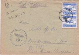 German Feldpost WW2: Double Airmail From Oranienbaum - W Of Leningrad -  Pionier-Kompanie Luftwaffen-Feld-Division 10 - Militaria