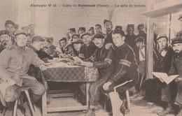 Rare Cpa Le Camp De Prisonnier De Darmstadt La Salle De Lecture - 1914-18