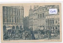 CPA -37064 - Belgique - Bruxelles - Grand Place Et Marché Aux Fleurs - Marktpleinen, Pleinen