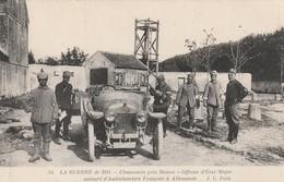 Rare Cpa Chauconin Près De Meaux Officier D'état-major Entouré D'ambulanciers Français Et Allemands - 1914-18