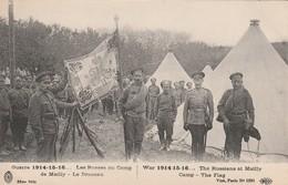 Rare Cpa Les Russes Et Leur Drapeau Au Camp De Mailly - 1914-18