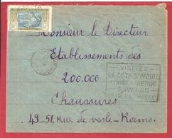 Y&T N°69  ABIDJAN   Vers  FRANCE 1935  3 SCANS - Côte-d'Ivoire (1892-1944)