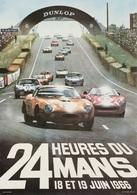 Car Automobile Grand Prix Postcard 24 Hrs Du Mans 1966  - Reproduction - Pubblicitari