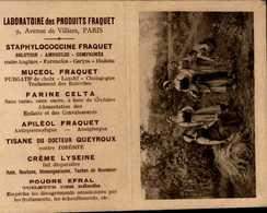 PETIT CALENDRIER 1913 OFFERT PAR LABORATOIRE DES PRODUITS FRAQUET... - Calendriers
