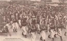 Rare Cpa Départ Des Tirailleurs Pour Le Front - 1914-18
