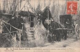 Rare Cpa Voiture Postale Apportant Le Courrier Aux Artilleurs En Woêvre - 1914-18